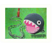 Super Mario 64 Chain Chomp Art Print