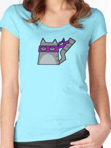 Donatello Teenage Mutant Ninja Kitty Women's Fitted Scoop T-Shirt