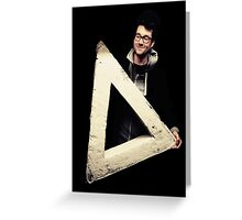 Dan with the triangle Greeting Card
