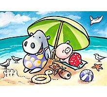Beach Buddies Photographic Print