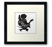 Spike Spiegel - See You Space Cowboy Framed Print
