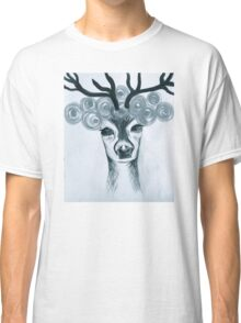 reindeer with flowers Classic T-Shirt