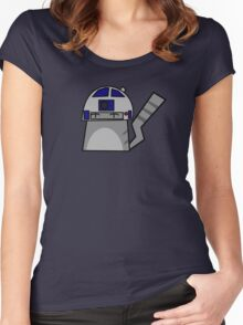 R2D2 Cat Women's Fitted Scoop T-Shirt