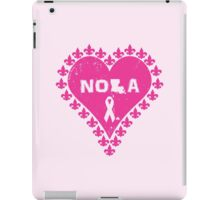 Think Pink NOLA Fleur de Lis Heart iPad Case/Skin