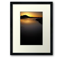 Sunset Fades Framed Print