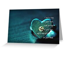 Put a Ring Greeting Card