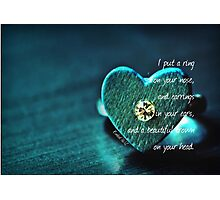 Put a Ring Photographic Print