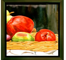 Nested Redish Apples by tatoguzman