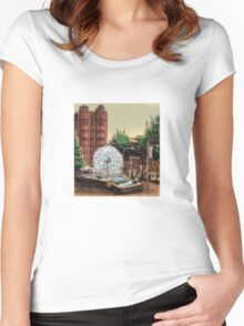 El Alamein Fountain, Kings Cross Women's Fitted Scoop T-Shirt