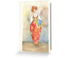Illustration, Albanian traditional  costume Greeting Card