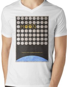 Moon Mens V-Neck T-Shirt