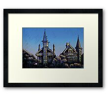Witches' Houses, Johnston St, Annandale Framed Print