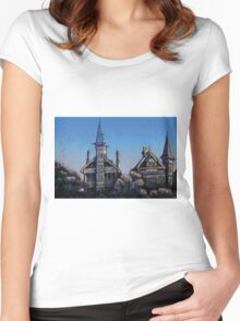 Witches' Houses, Johnston St, Annandale Women's Fitted Scoop T-Shirt