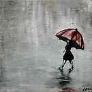 Dreaming of Red Umbrellas by Becx