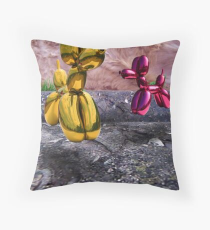 Heavy Pups  Throw Pillow