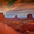 THE MITTENS, MONUMENT VALLEY, UTAH by Peter Kewley