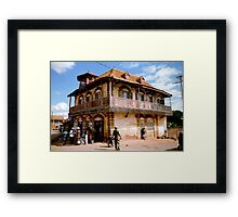 A house in Ambalavao Framed Print