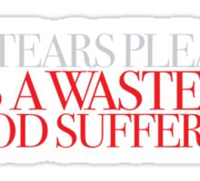 Hellraiser - No tears please Sticker