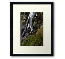 Hidden Creek Falls- close and personal Framed Print