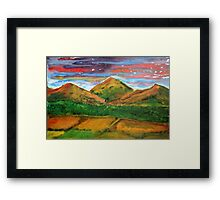 Mourne Abstract 4 Framed Print