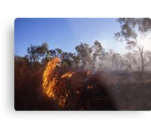 Outback Wild Fire Metal Print