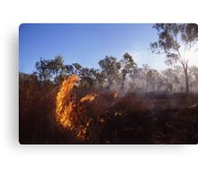 Outback Wild Fire Canvas Print