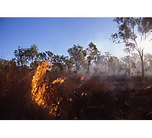 Outback Wild Fire Photographic Print
