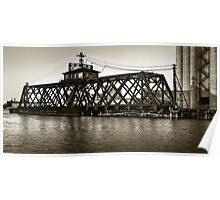 Milwaukee River Swing Bridge 2 Poster