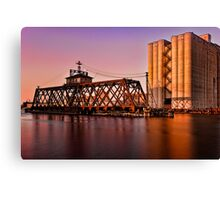 Milwaukee River Swing Bridge 3 Canvas Print