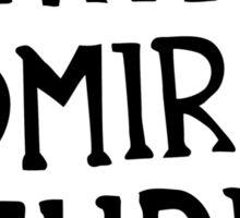 Admiral Stupid Sticker