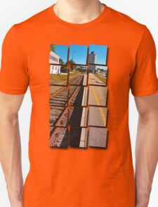 Rails into the countryside | transportation photography T-Shirt