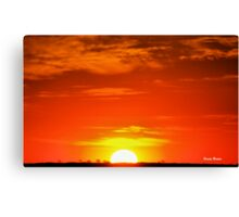 """""""So ends another day in Africa"""" - Kalahari sunset - South Africa Canvas Print"""