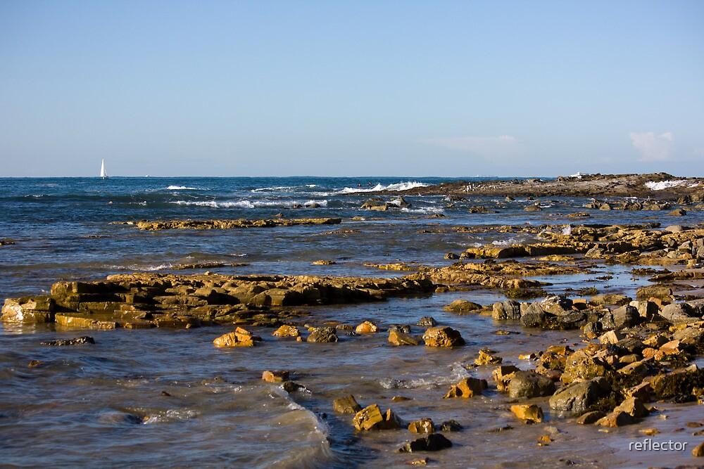 Reids Beach by reflector
