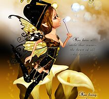Autumn Fairy Birthday Greeting Card by Moonlake