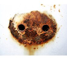 The Mask Begins to Crumble Photographic Print