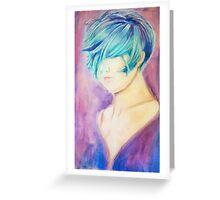 Pastel Experiment Portrait Greeting Card