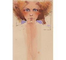 Amanda with red hair Photographic Print