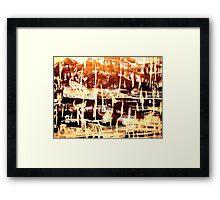 tribal village.... tranquil  Framed Print