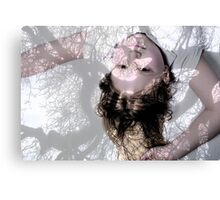 Girl within the trees shadows Canvas Print