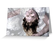 Girl within the trees shadows Greeting Card