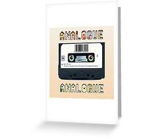Cassette Tape Analogue Cartoon 1 Greeting Card