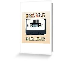 Cassette Tape Analogue Cartoon 1 Greeting Card