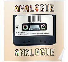 Cassette Tape Analogue Cartoon 1 Poster