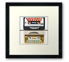 Cassette Tape Analogue Cartoon  2 Framed Print