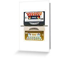 Cassette Tape Analogue Cartoon  2 Greeting Card