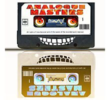 Cassette Tape Analogue Cartoon  2 Photographic Print