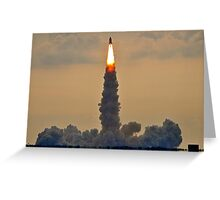 Endeavour's lift off  Greeting Card