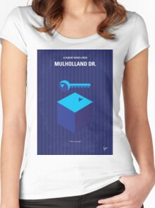 No323 My MULHOLLAND DRIVE minimal movie poster Women's Fitted Scoop T-Shirt