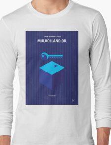 No323 My MULHOLLAND DRIVE minimal movie poster Long Sleeve T-Shirt