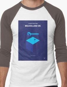 No323 My MULHOLLAND DRIVE minimal movie poster Men's Baseball ¾ T-Shirt